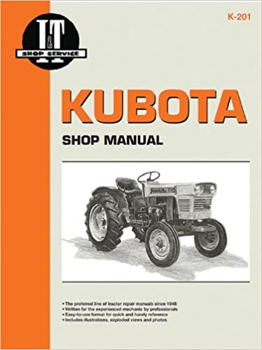 Kubota Shop Manual I T Shop Service Manuals Penton