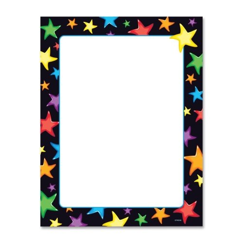 Trend Gel Stars Copy & Multipurpose Paper - Letter - 8.50'' x 11'' - 50 / Pack - Assorted, White