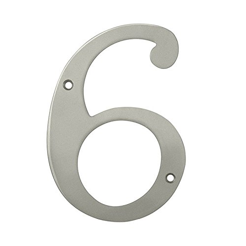 Deltana RN6-6U15 Solid Brass 6-Inch House Number 6 Board