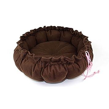 ericoy Kleine Cordón calabaza estilo redondean cama para perros mascotas – Cojín cama de Pad con