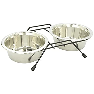 Dogit Stainless Steel Double Dog Diner, Small