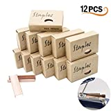12Pcs Premium Standard Staples - Rose Gold 26/6 Staples 12mm Width 950/Box, 12 Boxes/Pack 11400 Count