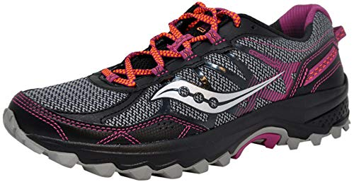 Saucony Women's Excursion TR11 Running Shoe, Grey/Purple, 7 M US from Saucony