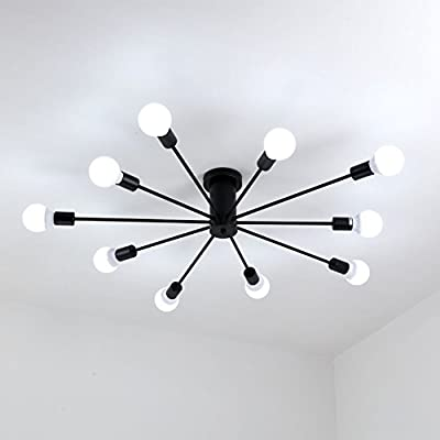 Aero Snail Modern Flush Mount Living Room Ceiling Light Fixture