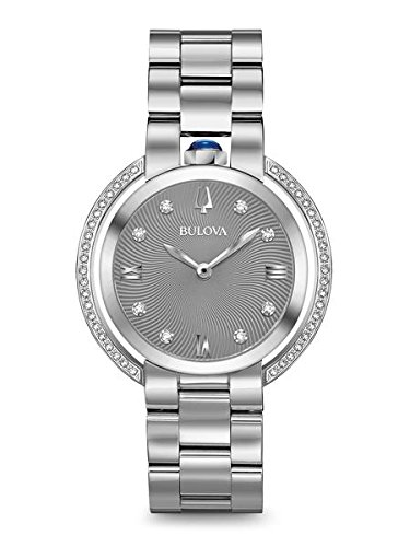 Ladies' Bulova Rubaiyat Diamond Stainless Steel Watch 96R219