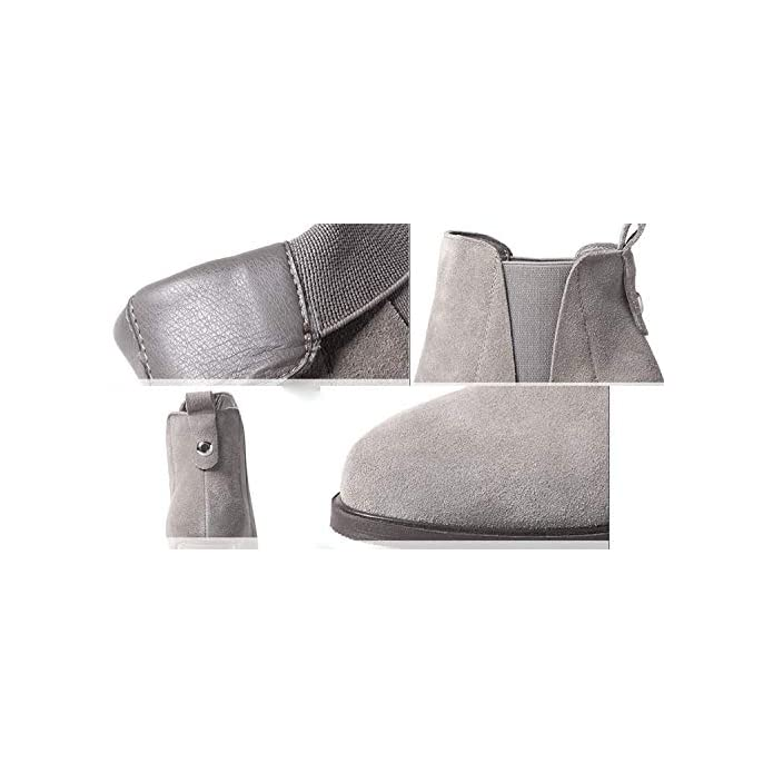 Oudan Donna Primavera Autunno Inverno Tacchi Alti Stivaletti Opachi Scarpe Calde colore 6 Dimensione 34eu