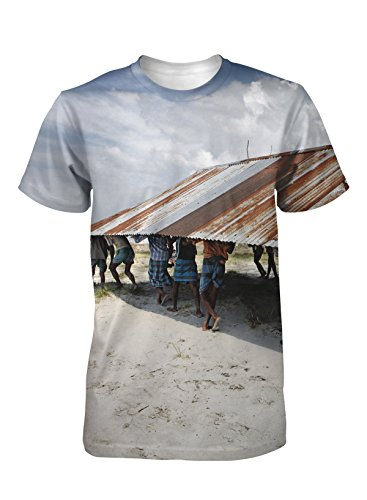 Moving The Mosque Photographic Ladies T Shirt by Jonas Bendiksen, M