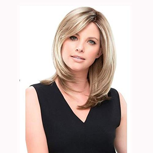 European and American Fashion Short Wig high Temperature Silk Black and Gray Gradient Wig -