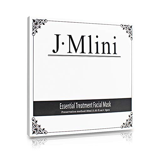 J-Mlini Essential Treatment Beauty Full Face Facial Mask Sheet - Moisturizing,Anti-aging, Anti-wrinkle, Tightening, Calm, Soothing, Lifting and Hydrating - 3 Pieces (30ml / (Essential Mask Sheet)