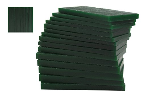 15 Piece Assortment of 1/2 Lb Dark Green Wax Carving Block Jewelry Pattern Making Machining Hard Melting Modeling Wax Slices