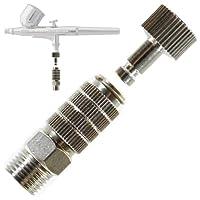 Acoplador de desconexión de liberación rápida con aerógrafo de la marca Master Aerógrafo con tapón Conexiones de manguera BSP macho y hembra de 1/8 pulg.