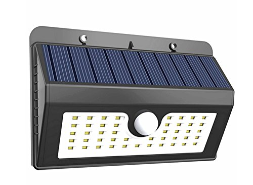 Ponvey 45 LED Wireless Weatherproof Solar Wall Light, Motion Sensor Activated ON/OFF with Easy Outdoor & Indoor Installations - Perfect for Garden,Yard, Deck, Step, Fence