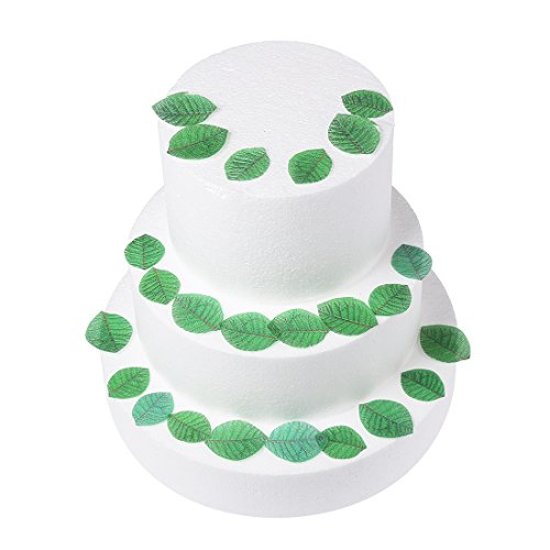 GEORLD 24Pcs Edible Green Leaves Cake & Cupcake Toppers Decoration Edible Decoration