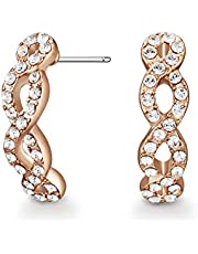 Mestige Women Glass Rose Gold Savannah Earrings with Swarovski Crystals