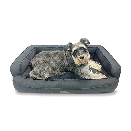 Crafts Bed Bolster - Pet Craft Supply Cute Orthopedic Quilted Sofa-Style Couch Premium Chipped Memory Foam Dog Bed for Large Dogs