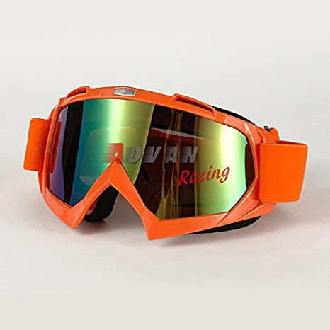 42453e624f4 Image Unavailable. Image not available for. Color  Moto Onfire Motorcycle  Bike Racing Riding Protective Eyewear Glasses Sun-UV Protection(Orange)