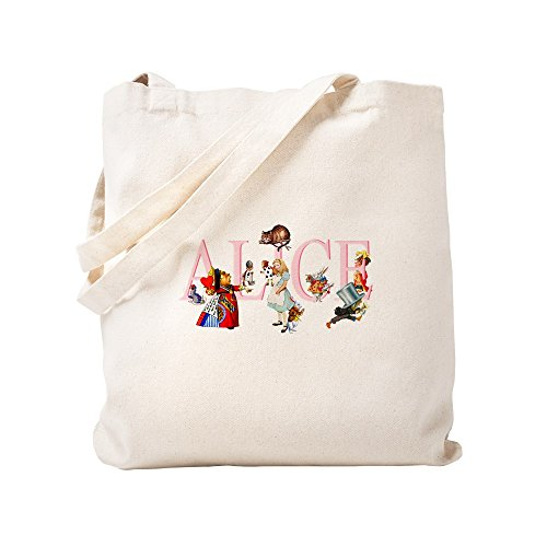 CafePress ALICE AND FRIENDS Natural Canvas Tote Bag, Cloth Shopping Bag