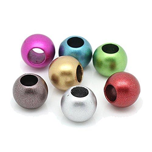 [YF] 欧米風 多色 アクリル珠 混合カラー ボール アクリル ブレスレット ネックレス ジュエリー手作りパーツ 穴あきの珠 12mm-200個の商品画像