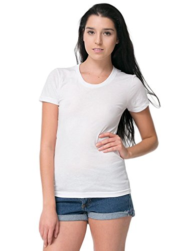 american-apparel-womens-poly-cotton-short-sleeve-womenss-t-size-m-white