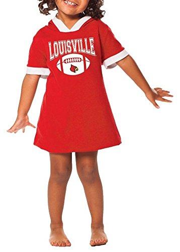 Girls Hooded Louisville Cardinals Jersey Dress (M (7/8))
