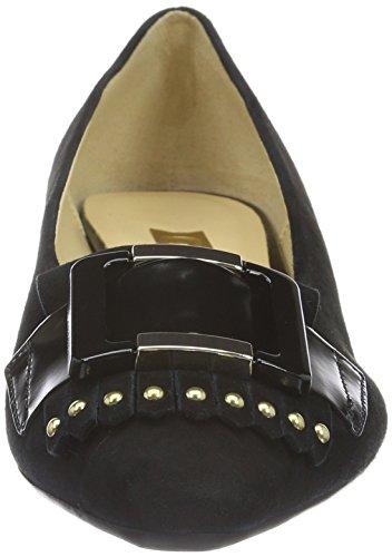 Gabor Shoes Basic, Zapatos de Tacón para Mujer Negro (Schwarz Gold)