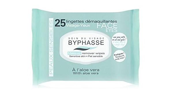 Byphasse Toallitas Desmaquillante Piel Sensible 25 Unidades: Amazon.es: Salud y cuidado personal
