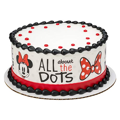 Minnie Mouse Dots Edible Cake Border - Set