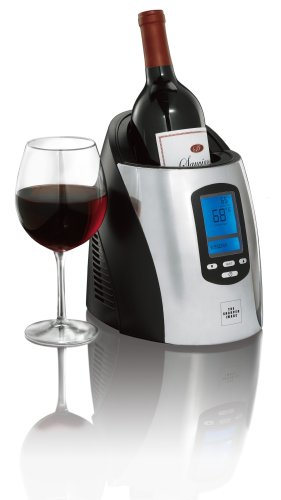(The Sharper Image KP-W400 Single Wine Chiller, Black)