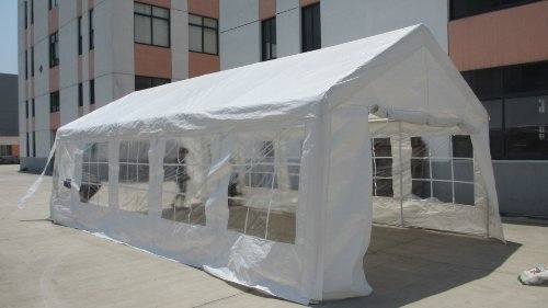 Exacme White 32x16' Heavy Duty Carport Car Shelter Tent Wedding Party Tent Canopy