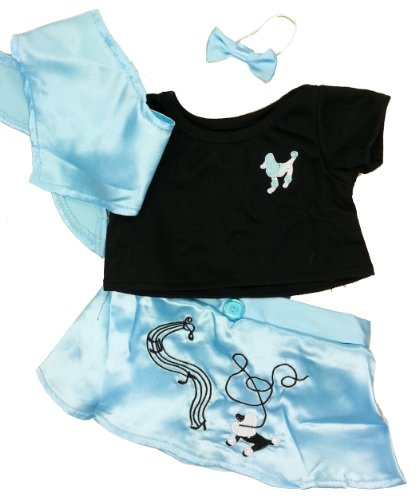 1950s Outfit Ideas (50s Blue Poodle Skirt Outfit Teddy Bear Clothes Outfit Fits Most 14