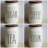 Rae Dunn Inspired Vinyl Decal Sticker Label Set For Canisters