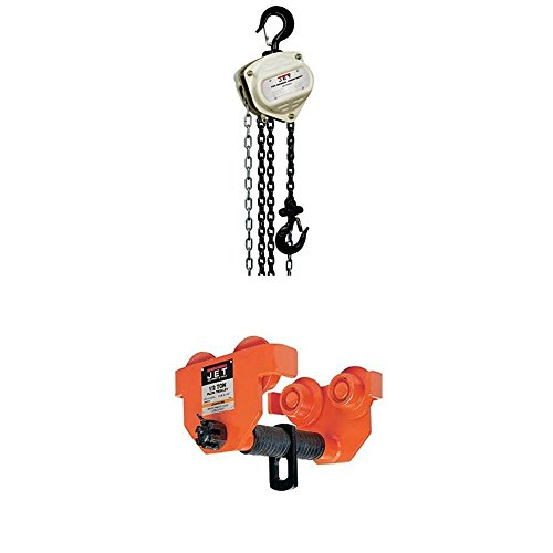 Jet S90-050-10 S90 Series Hand Chain Hoists with 1/2-PT, 1/2-Ton Heavy Duty Manual Trolley