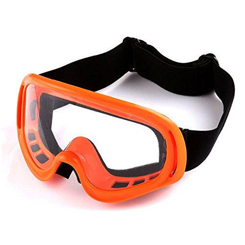 1Storm Adult Motocross Helmet BMX MX ATV Dirt Bike Helmet Racing Style Glossy Orange; + Goggles + Skeleton Orange Glove Bundle by 1Storm (Image #7)