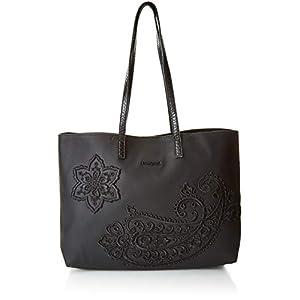 Desigual CACHEMIRE SEATTLE NO REVERSIBLE Tote bag/Borsa shopping donne Nero Tote bag/Borsa shopping