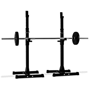 58fb555ee80 Klarfit Weight Lift Squat Rack Curl Bar Stand Holder  100kg Steel Body  Ideal for Home