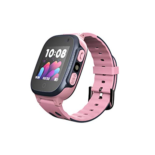 (Kariwell GPS Child Positioning Mobile Phone Watch - Accurate Location/Safe Incoming Calls/Walkie Talkie/Safty Zone/Pedometer/Sleeping Monitiring/History Route/Anti-Lost Kari-204 (Pink))