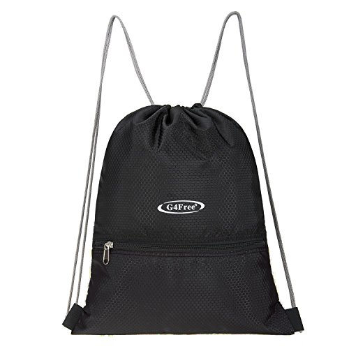 G4Free Water Repellent Gymbag Large Drawstring Backpack Sackpack
