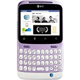 HTC ChaCha A810E Unlocked WHITE/PURPLE GSM QuadBand Cellular Phone - International Version with International Warranty