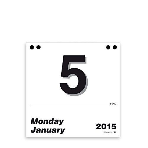 Brownline Daily Calendar Refill - Brownline 2015 Daily Wall Calendar Refill Only for C7, 6 X 6 Inches (C7R-15)