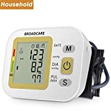 Upper Arm Blood Pressure Monitor with Cuff That Fits Standard and Large Arms from BROADCARE, Double 99 Memory Groups, Built-in Rechargeable Lithium Battery for Operation