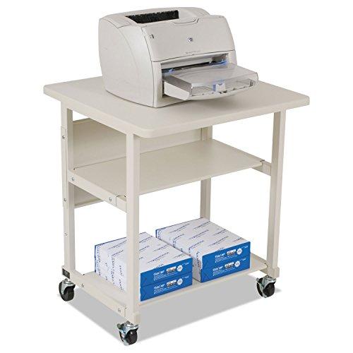 (BALT 22601 Heavy-Duty Mobile Laser Printer Stand, Three-Shelf, 27w x 25d x 27-1/2h, Gray)