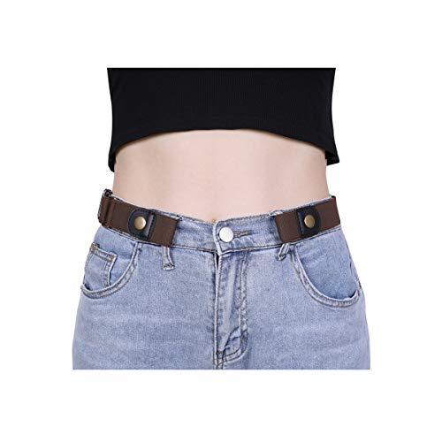 - No Buckle Women Elastic Belt for Jeans, XZQTIVE Invisible Buckle-free Belt Stretchy Waist Belt