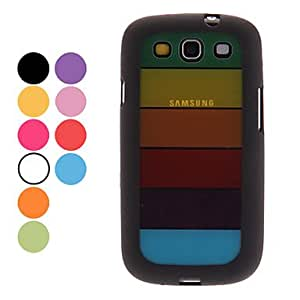 xiao Colorful Transparent Hard Case for Samsung Galaxy S3 I9300 (Assorted Colors) , Black