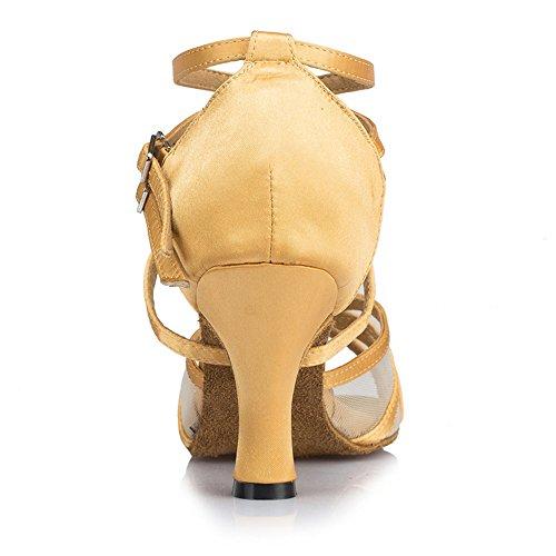 Zapatos De Baile Online De Señoras De Moda Cómodos Zapatos De Baile Brown 6cm