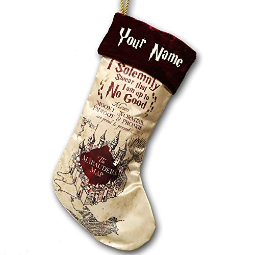 Kurt Adler Personalized Harry Potter Magical Marauders Map Christmas Stocking - 18 Inches