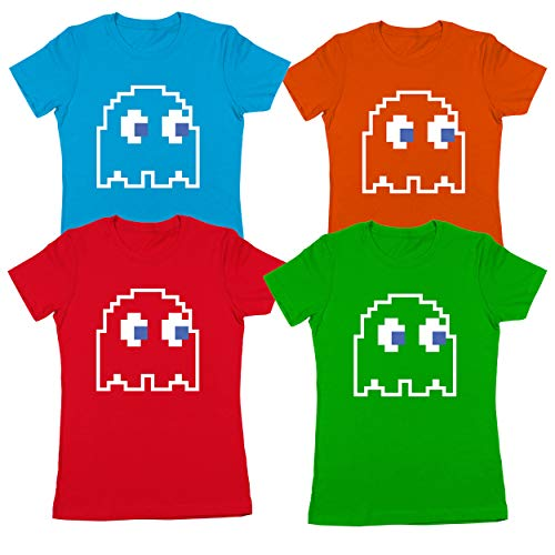 8-Bit Video Game Ghost Group Halloween Costume Womens Shirt Small -