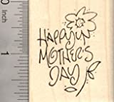 Happy Mother's Day Rubber Stamp, Floral