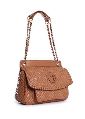 Tory Burch Marion Quilted Small Saddle Shoulder Bag In