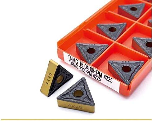 ohne 10 Stück TNMG160408 PM4225 TNMG160404 PM4225 Externer Drehwerkzeug Tnmg 160408 Cermet Grade Hartmetall-Klingen Drehwerkzeug, TNMG160408 PM 4225