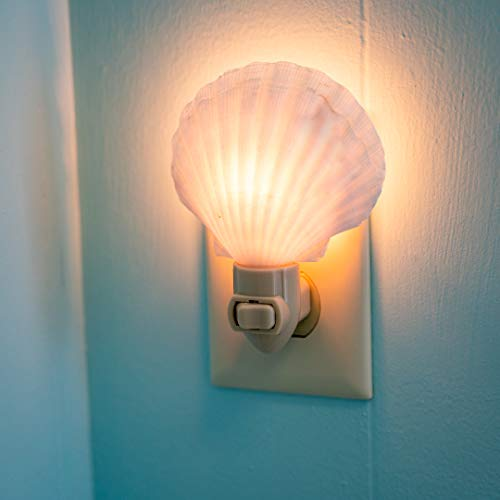 Sea Shell Night Light | Irish Deep Shell Nautical Night Light | Home Decor | Plus Free Nautical Ebook by Joseph Rains ()